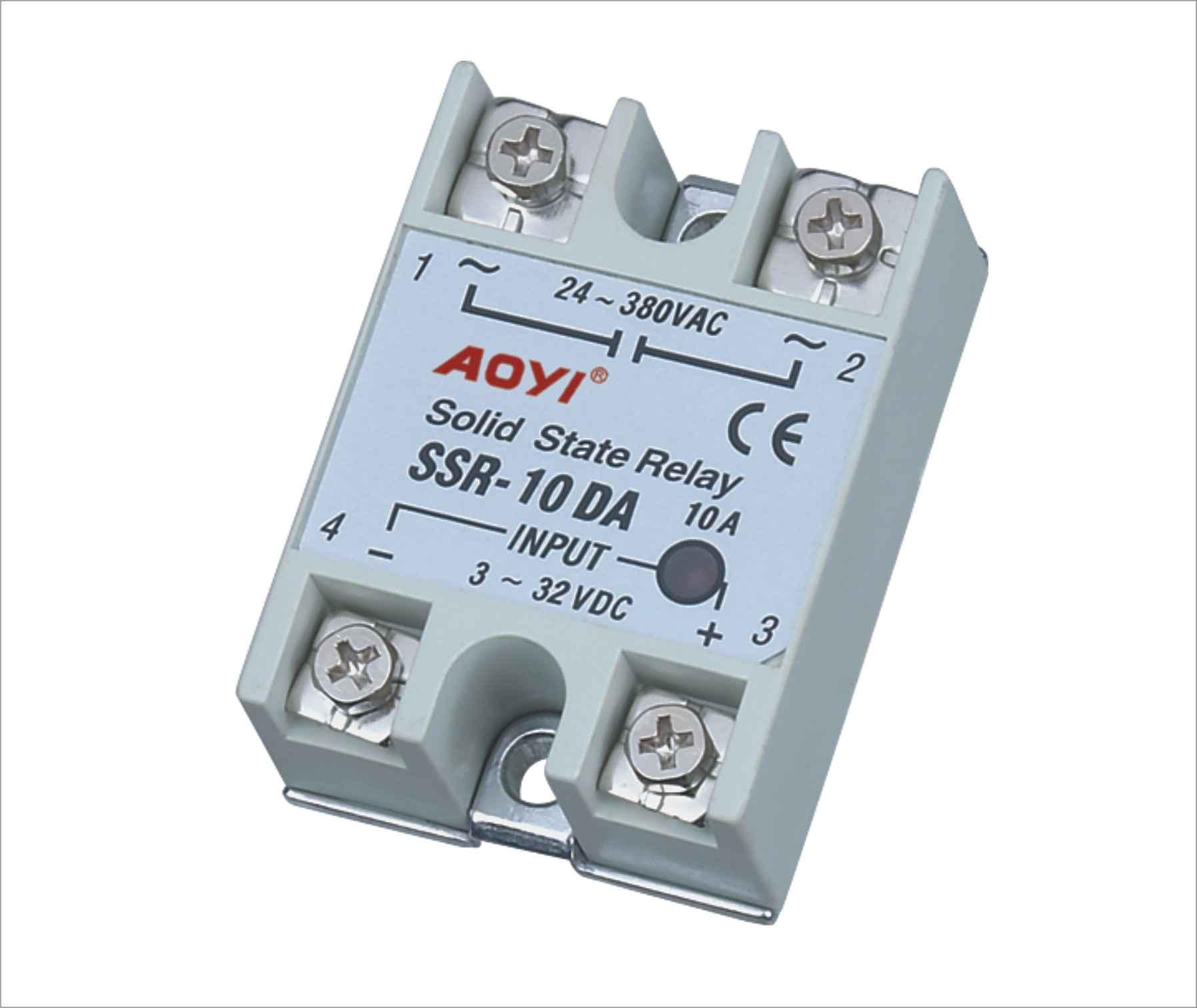 图片实拍固态继电器实物接线|什么是固态继电器ssr